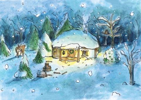 kerstkaart-huisje